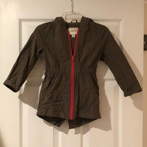 New without tags olive green girls jacket size XS